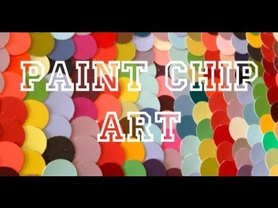 DIY: Paint Chip Art ♡ Theeasydiy #ArtForTheNonArtist