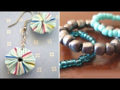 DIY : Paper Bead Rind and Earring | Ventuno Art All The Way