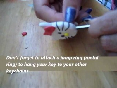 DIY: Polymer Hello Kitty Key Cap