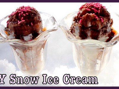 DIY Snow Ice Cream! ❅ How To Make SnowCream