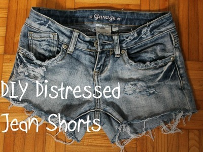 ♦DIY♦ Turn Jeans Into Distressed Jean Shorts (3 Different Ways!)