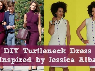 DIY Turtleneck Dress inspired by Jessica Alba   DIY Dress