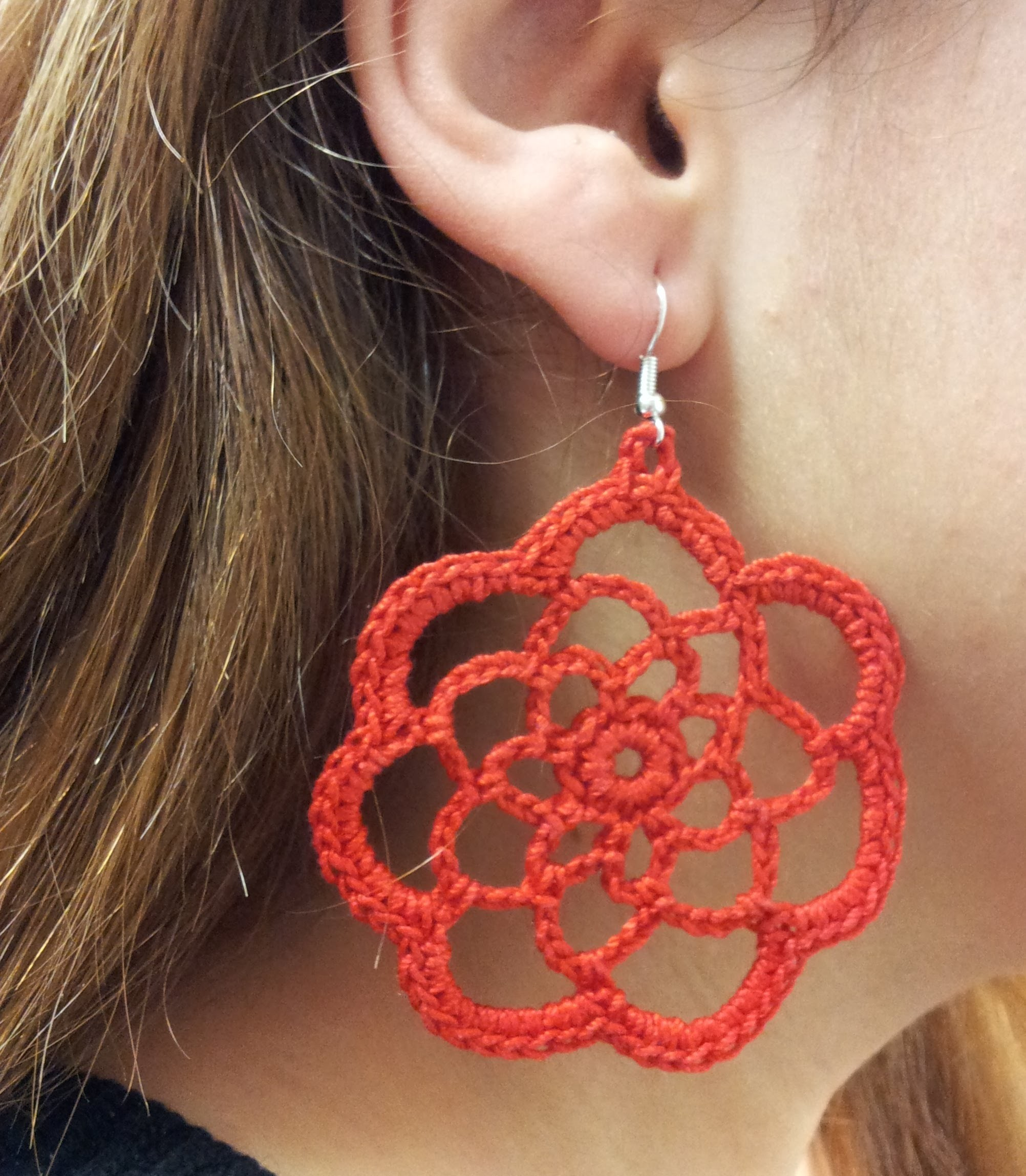 DIY TUTORIAL ENG.ITA ORECCHINI UNCINETTO EARRINGS CROCHET CIRCLE FLOWER  PARTE 1 DI 2