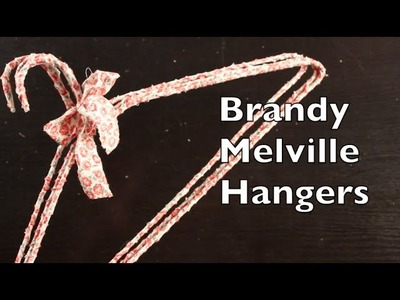 DIY Tutorial On How To Make Home Decor With Brandy Melville Hangers