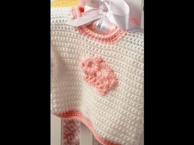Easy to #Crochet Little princess sweater. video one