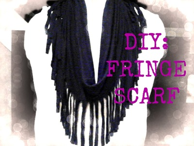 FASHION DIY: Fringe Scarf using a Shirt! NO Sewing! EASY