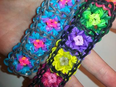 Granny Square Bracelet Tutorial by feelinspiffy (Rainbow Loom)