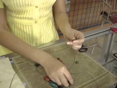 How to: Beading Coconut Tagua Jewelry Model ct0051 | EcuadorianHands.com