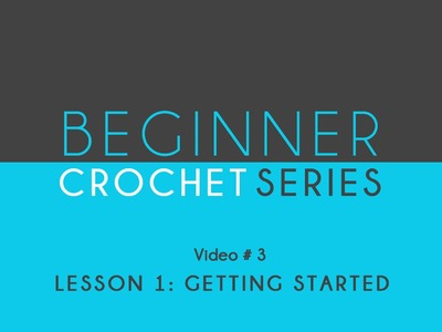 How to Crochet Left Handed: Beginner Crochet Lesson 1 Getting Started