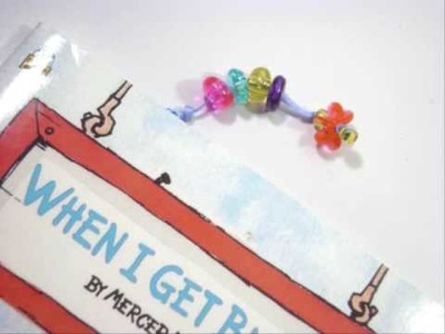 How to make a beaded clip bookmark - EP