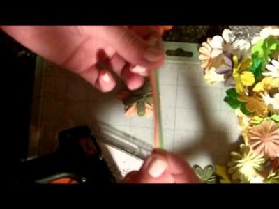 How to make a flower embellishment using scrap ribbon!