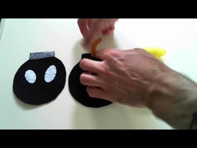 How to make a Mario bomb (Bob-omb) Plush tutorial