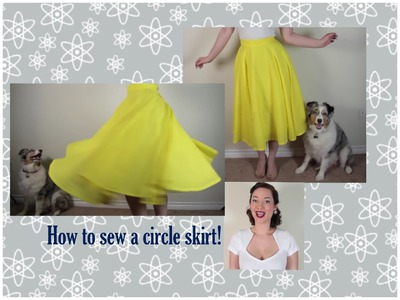 How to sew a circle skirt The Rachel Dixon retro tutorial DIY 40's 50's vintage pinup