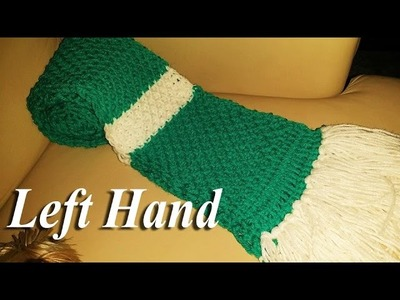 **Left Hand** Glama's Tunisian Honeycomb Scarf Tutorial & Giveaway