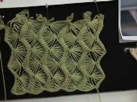 Machine knit fan lace part 1 of 5