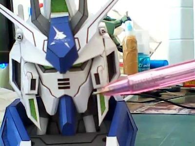 Mini desk head Gundam RX-93-2 HI V version.Xenon19 paper craft  by namo.