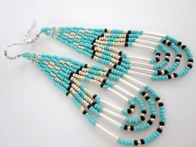 Native American Southwestern Style Beaded Earrings