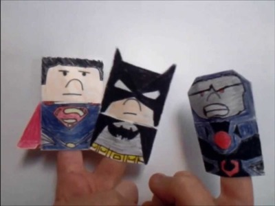 Origami Superman and Batman and Darkseid. Justice League Origami Trailer