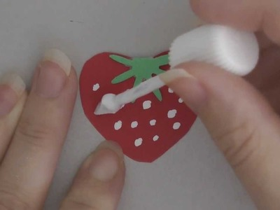 Punch Art Strawberry! Very Easy Craft Idea! Good Project for Stampin Up Punches
