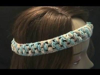 Stretchy Crochet Headband - Puff Stitch Crochet Geek