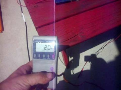 TESTING MY SOLAR CELLS FOR MY DIY SOLAR PANEL ON A GRID TIE INVERTER