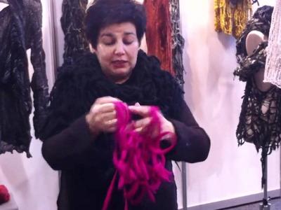 Arm knitting demonstration