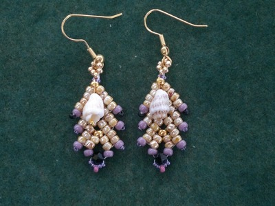 "Beading4perfectionists: ""Coral Reef"": earrings with TOHO and miyuki seedbeads beading tutorial"