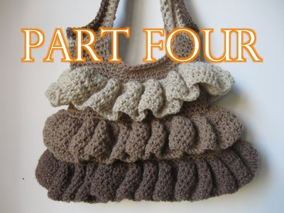 Crochet Ruffle Bag Tutorial pt 4