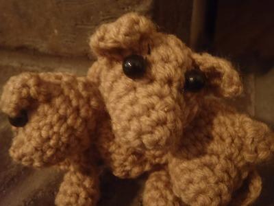 Crochet Three Headed Dog, Cerberus Puppy