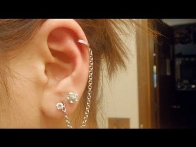 DIY: Cuffed Earring with Chain (fake a piercing)