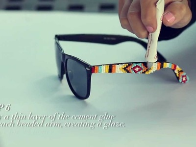 D.I.Y. Mosley Tribes Beaded Sunglasses | MTV FORA