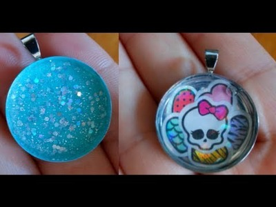 DIY: Nail Polish Pendants & Sticker Pendants ♡ Theeasydiy #FashionDIY