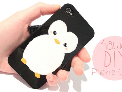 DIY Penguin Phone Case - EASY and Cute