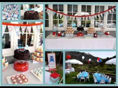 DIY Thomas the train birthday party decorating ideas