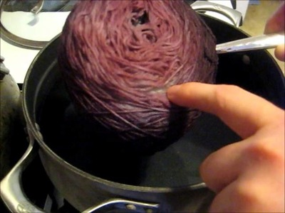 Dyeing a Presoaked Cake of Yarn