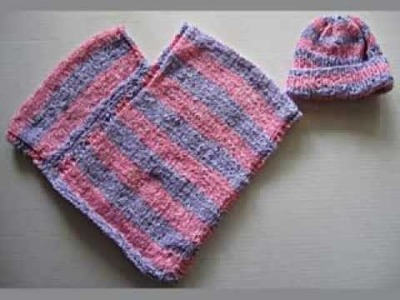 Hand Knit Baby Poncho