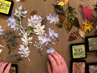 How I use Tim Holtz Tattered Leaves Die