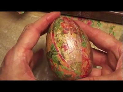 How to Decoupage Easter Eggs  Easter Art DIY