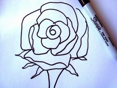 How to DRAW A ROSE in less than one minute, how to diy,