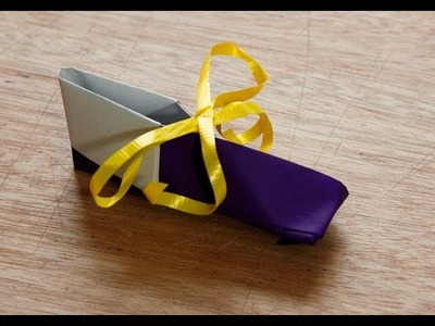 How to make an origami baby bootie or elf shoe
