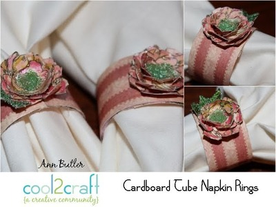 How to Make Paper Towel Roll Napkin Rings by Ann Butler