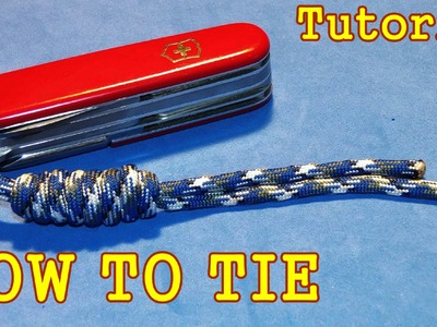 How to Tie Paracord lanyard with Overhand Sliding knot ( Tutorial. Guide )