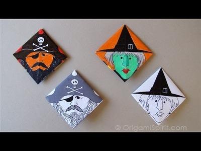 Make a Corner Origami Bookmark - Marcapáginas Esquinero