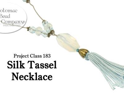 Make a easy Silk Tassel Necklace