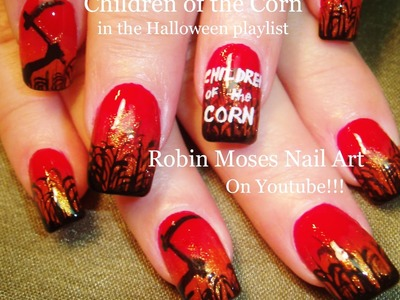 Nail Art Tutorial | DIY Halloween Nails | Children of the Corn
