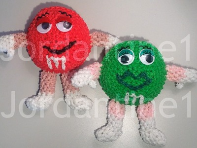 New Amigurumi Loomigurumi M&M - Rainbow Loom - Rubber Band Crochet - Hook Only