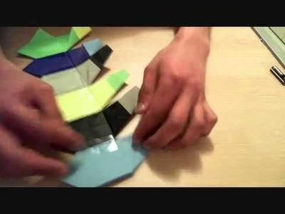 Origami hexagon gift box tutorial II
