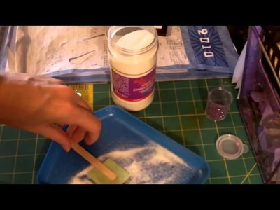 Quick tip on how to use UTEE Ultra thick embossing enamel for card making and scrapbooking!