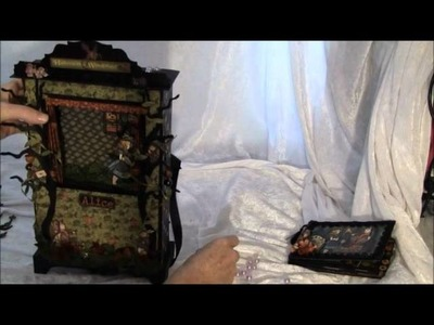 Recycled Cereal Box G45  Alice in Wonderland puppet theater and mini album