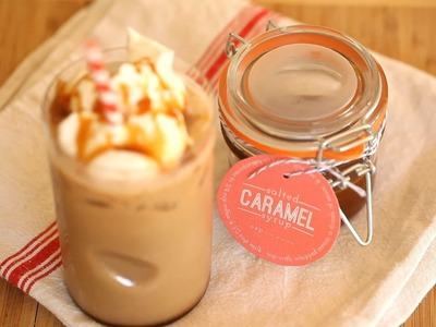 Salted Caramel Syrup for Coffee Recipe || KIN DIY